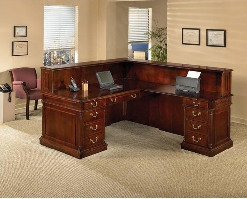 Keswick L-Shape Reception Desk with Right Return - modern - home
