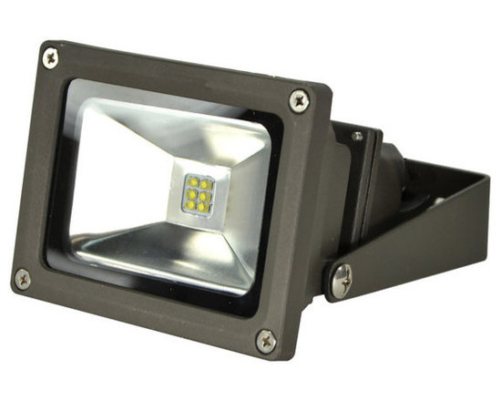 MaxLite - MLFL14LED50 MaxLite LED MaxLED Flood Light, 14 Watts Bronze - The LED Small Flood Lights are efficient, energy saving replacements for metal halide and quartz halogen fixtures. The fixtures can mount at a broad range of angles with a yoke-style arm.