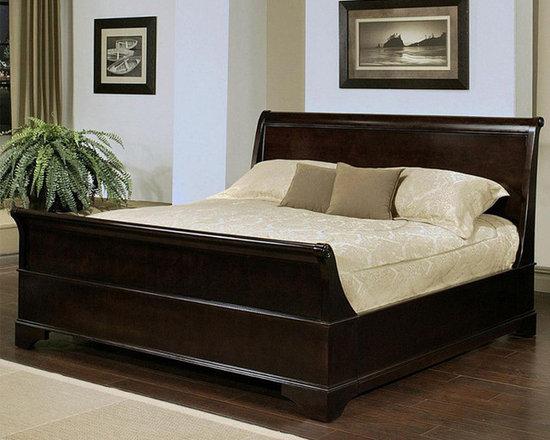 Abbyson Living - Lancaster Espresso Sleigh Bed -