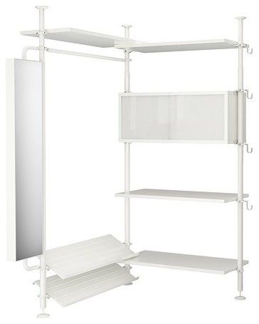 STOLMEN 2 sections modern closet organizers