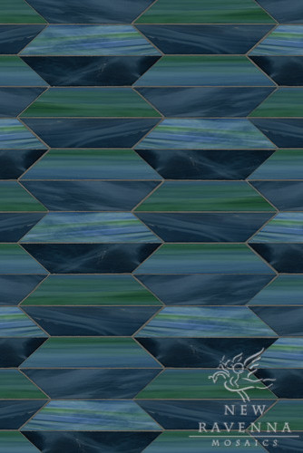 Glass mosaic contemporary-tile