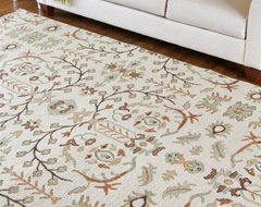 Sonoma Cream/Brown Hand Knotted Rug traditional-rugs