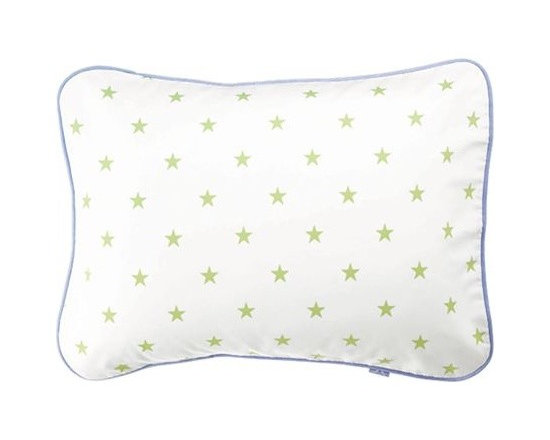 Serena & Lily - Sprout Star Standard Sham - Classic star pattern in fresh sprout green makes everybody happy. Chambray piping on the sham completes the look.