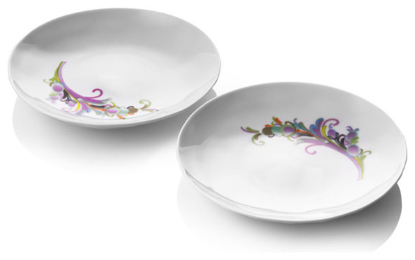 Raw Diamonds By Us Side Plates, Set of 2 contemporary dinnerware