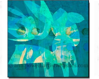 Blue Square Retro - Abstract Wall Art copyright Ann Powell - Contemporary - Artwork - other ...