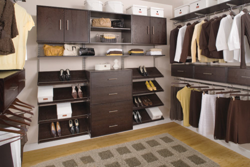 Organized Walk In Closet Modern Closet Cincinnati
