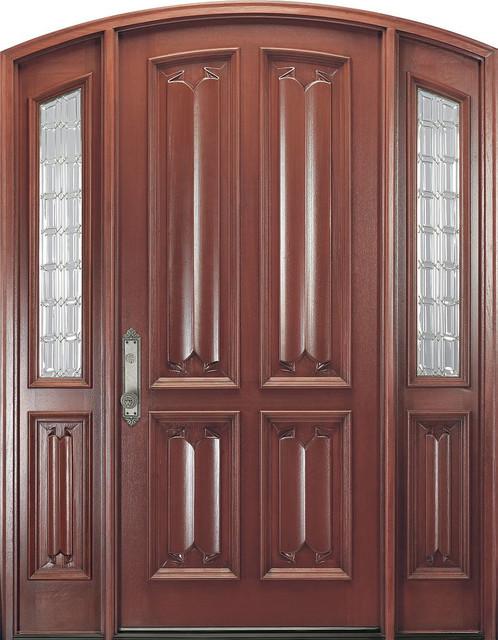 Eclectic Doors - Elegant Carved Cherry Front Door eclectic-front-doors
