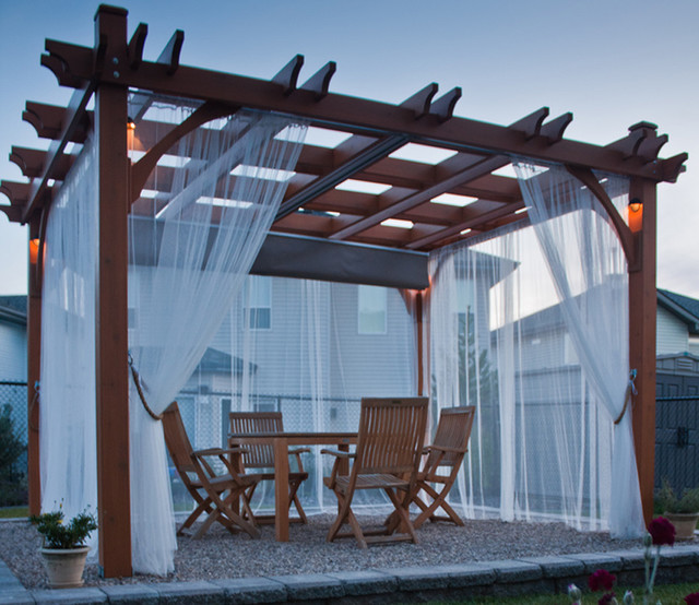 Pergola Kit 10x12 With Retractable Canopy Contemporary