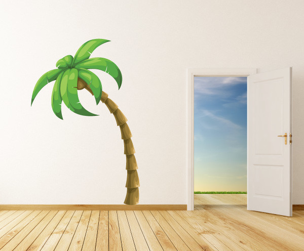 palm tree vinyl wall decal palmtreeuscolor001 12 in