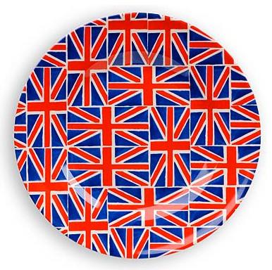 Emma Bridgewater Pottery Union Jack Picnic Plate eclectic-plates
