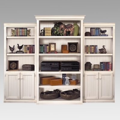 kathy ireland Southampton Wall Bookcase - White modern bookcases cabinets and computer armoires