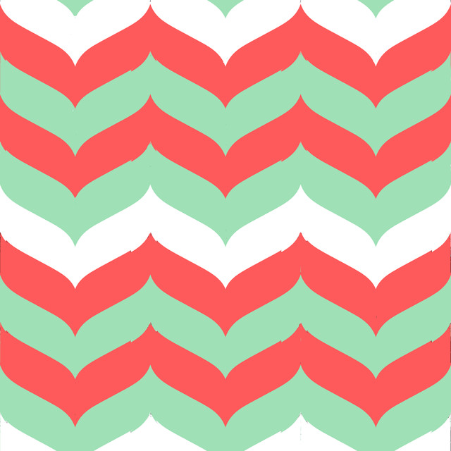 mint chevron patterns coral - photo #14