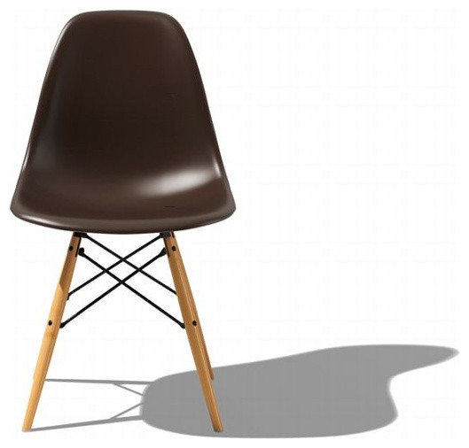 eames molded plastic dowel leg side chair dsw midcentury. Black Bedroom Furniture Sets. Home Design Ideas