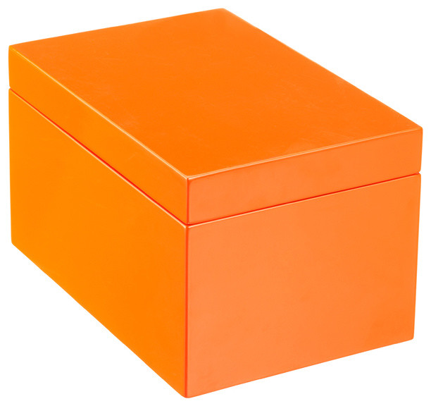 Large Lacquered Rectangular Box - Modern - Decorative Boxes - by The Container Store