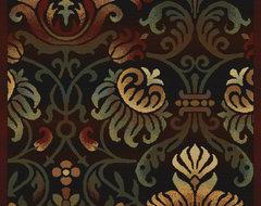 "United Weavers of America Horizons Arabesque Ebony 3'11"" x 5'3"" Area Rugs contemporary-rugs"