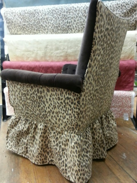 Sue 39 S Funky Upholstered Chairs After Picture Eclectic Living Room Boston By George 39 S