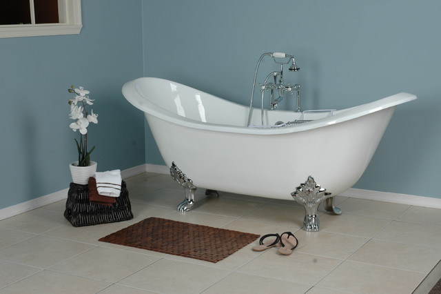 Pictures Of Clawfoot Bathtubs: Double Slipper Clawfoot Tub