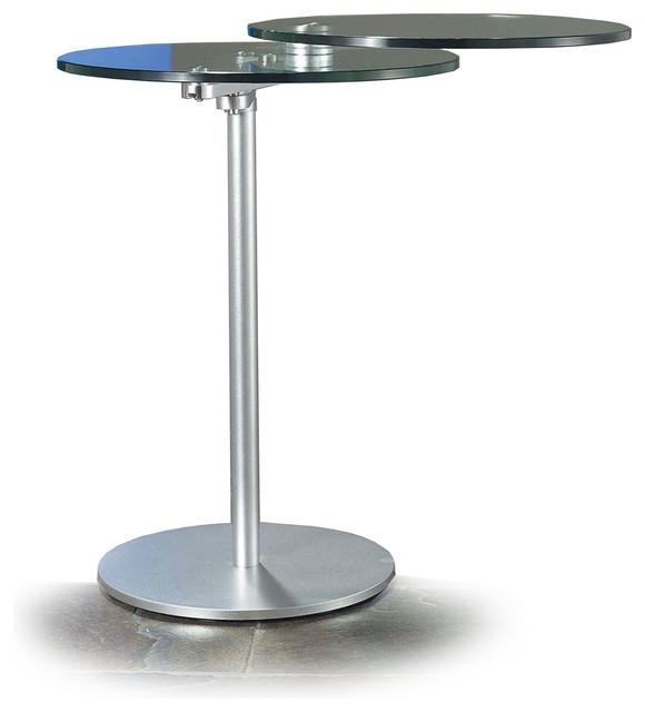Modern Sliding Glass Top Side Table Saluzza
