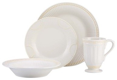 Lenox Butlers Pantry Buffet - 4 Piece Place Setting modern-dinnerware-sets