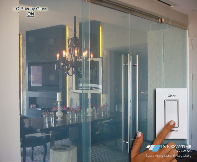 Switchable Privacy Glass Sliding Room Divider