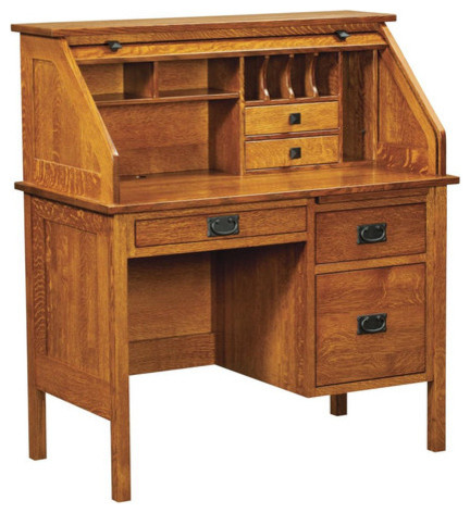 harvard secretary roll top desk modern home office accessories. Black Bedroom Furniture Sets. Home Design Ideas