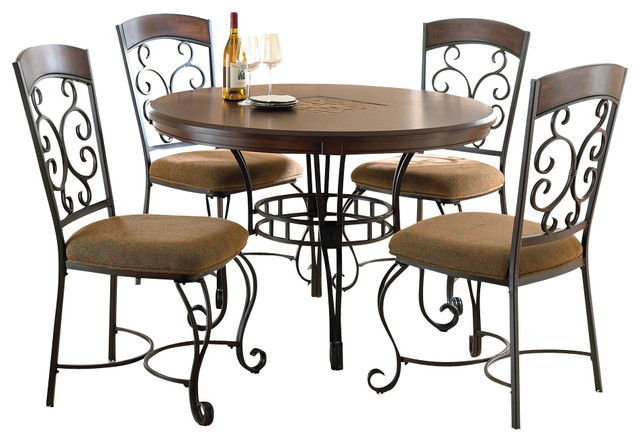 steve silver greco 5 piece dining room set in cherry with