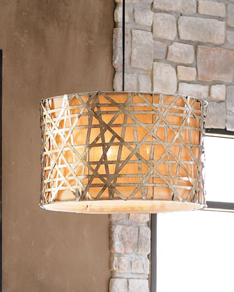 want a drum lamp shade over my dining table that is 84 x 60 is 2