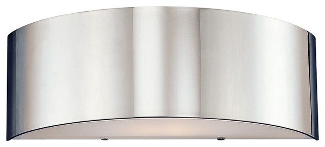 """Dervish Collection 14"""" High Chrome Sconce contemporary-wall-sconces"""
