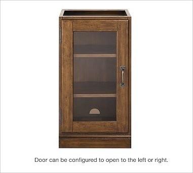 Printer's Single Glass Door Cabinet, Tuscan Chestnut stain