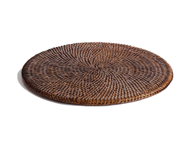 Round Rattan Placemat - Contemporary - Placemats - by Origin Crafts