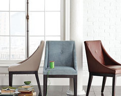 Curved Upholstered Chair | west elm contemporary-dining-chairs