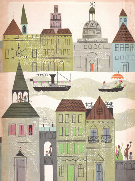 Vintage Fairy Tale Illustration, 'Rainbow Village' by Miss Quite Contrary contemporary-nursery-decor