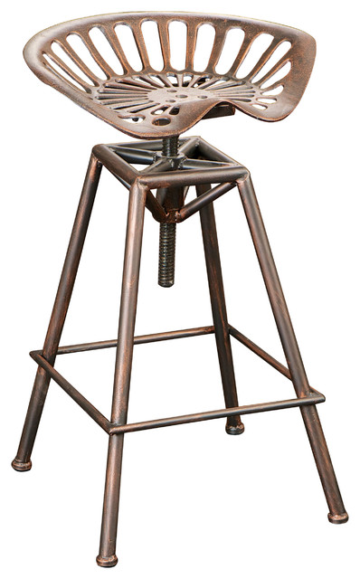 Charlie Industrial Metal Design Tractor Seat Barstool Bar Stools And Counter