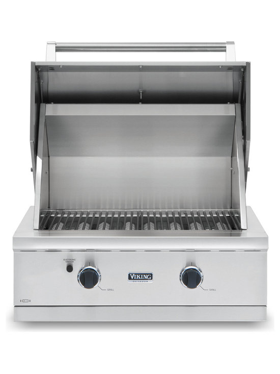 "Viking 30"" Built-in Gas Grill, Stainless Steel Natural Gas 