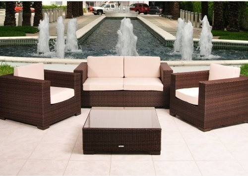 deep seating set seats 4 contemporary patio furniture and outdoor