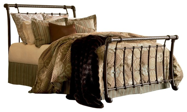 Traditional Legion Metal Sleigh Bed (Queen) traditional beds