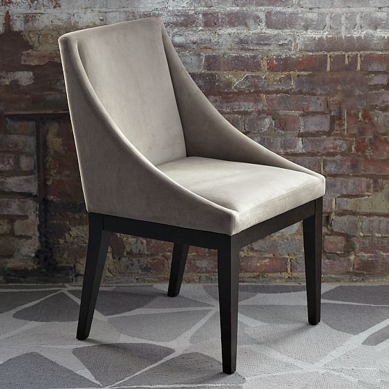 New Curved Upholstered Chair modern-accent-chairs