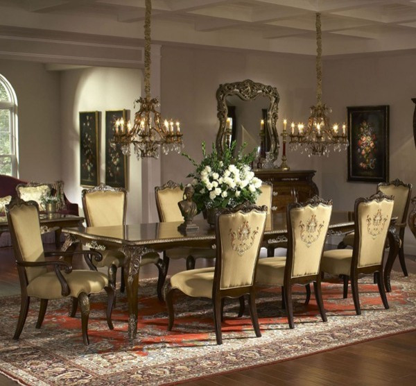 aico furniture imperial court 9 piece dining table set