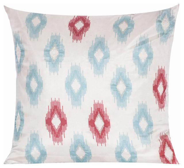 Uzbek Ikat Pillow Cover eclectic-pillows
