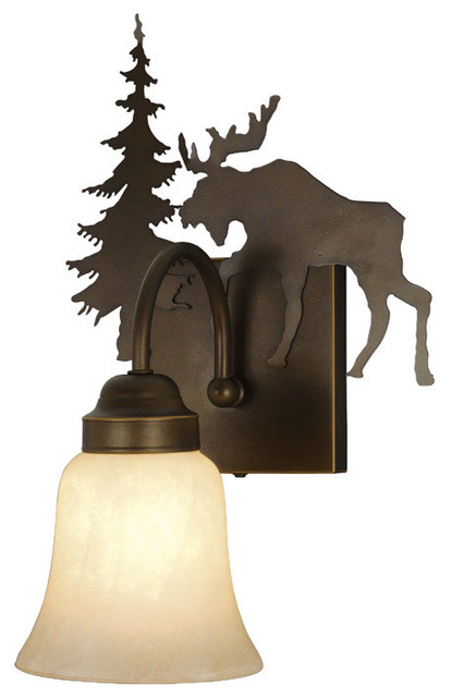 Yellowstone Burnished Bronze Wall Sconce traditional-wall-sconces
