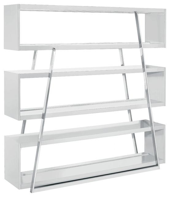 Kira shelving unit white modern bookcases by inmod - Modern white shelving unit ...