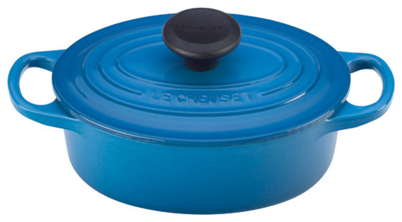 Le Creuset Signature Cast Iron 1-Quart Round French Oven traditional-dutch-ovens