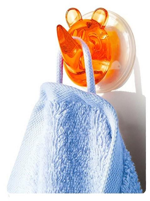 Suction Hooks - Rhino Ricco, Orange contemporary-towel-bars-and-hooks