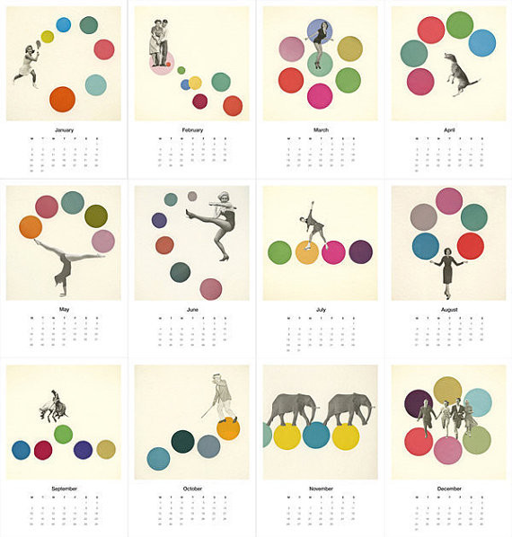 Violet May Desk Calendar 2012 by Violet May Collage modern-desk-accessories