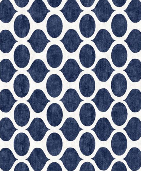 Opaque Blue Cutsom Rug modern-rugs