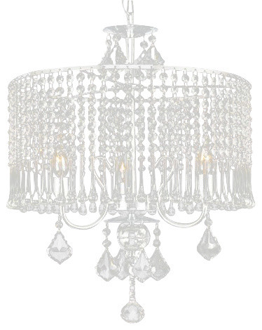 Contemporary 3-Light Crystal Chandelier Lighting transitional-chandeliers
