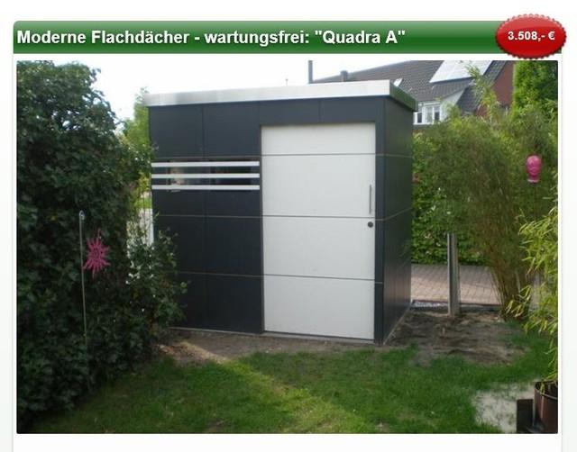 quadra a moderne gartenh user modern gartenh user. Black Bedroom Furniture Sets. Home Design Ideas