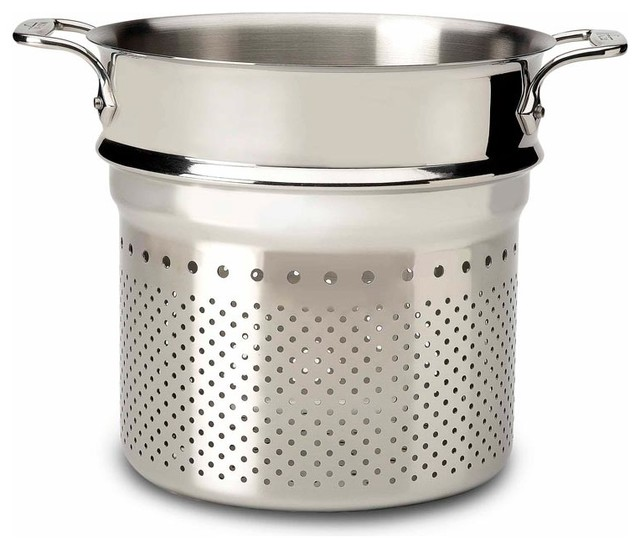All clad pasta strainer insert contemporary stockpots
