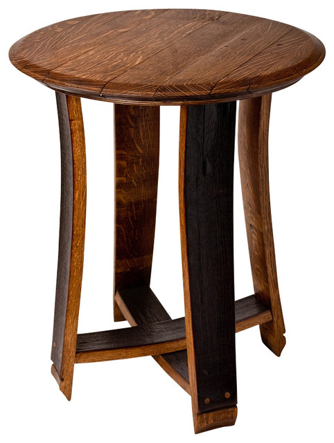 Barrel Top Accent Table Contemporary Side Tables And