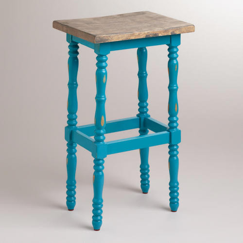 Pagoda Blue Penelope Spindle Stool Contemporary Bar